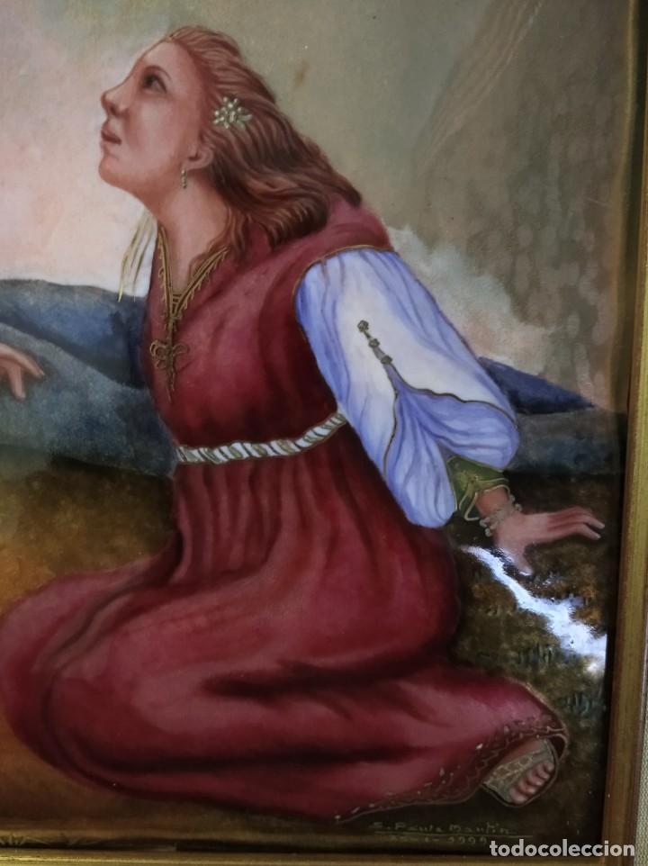 Arte: CRISTO RESUCITADO CON MARIA MAGDALENA 48*57 - ORO DE LEY LIQUIDO - ESMALTE AL FUEGO - SOR PAULA MART - Foto 6 - 189715770