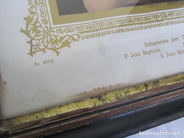 Arte: Litografía enmarcada de San Juan Bautista niño - Foto 5 - 189744865