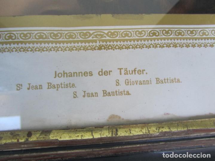 Arte: Litografía enmarcada de San Juan Bautista niño - Foto 6 - 189744865