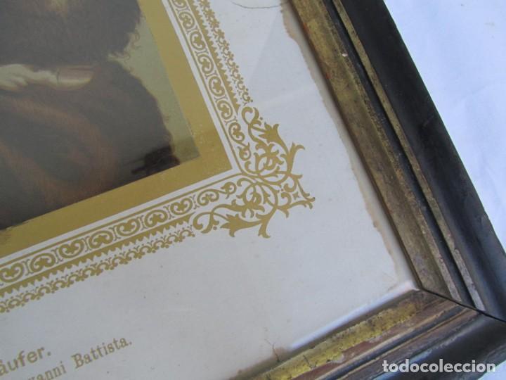 Arte: Litografía enmarcada de San Juan Bautista niño - Foto 7 - 189744865