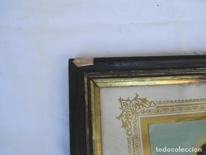 Arte: Litografía enmarcada de San Juan Bautista niño - Foto 8 - 189744865