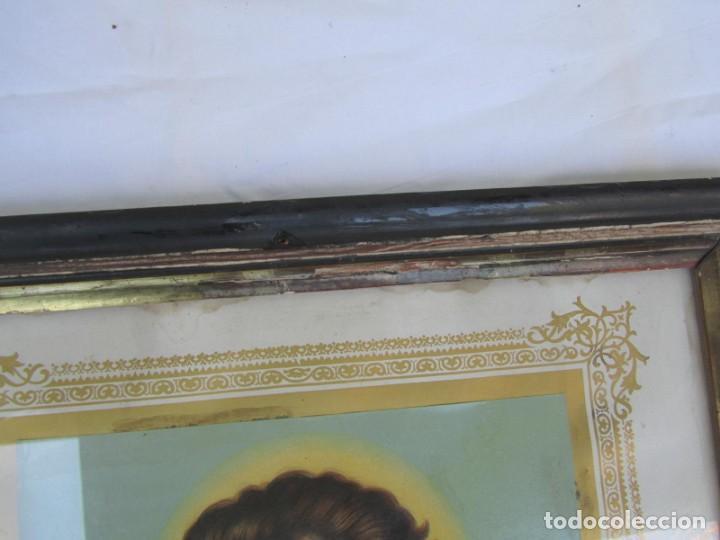 Arte: Litografía enmarcada de San Juan Bautista niño - Foto 10 - 189744865