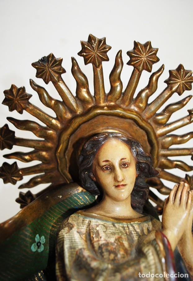 Arte: FIGURA RELIGIOSA IMAGEN OLOT VIRGEN INMACULADA CONCEPCIÓN - Foto 5 - 189766760