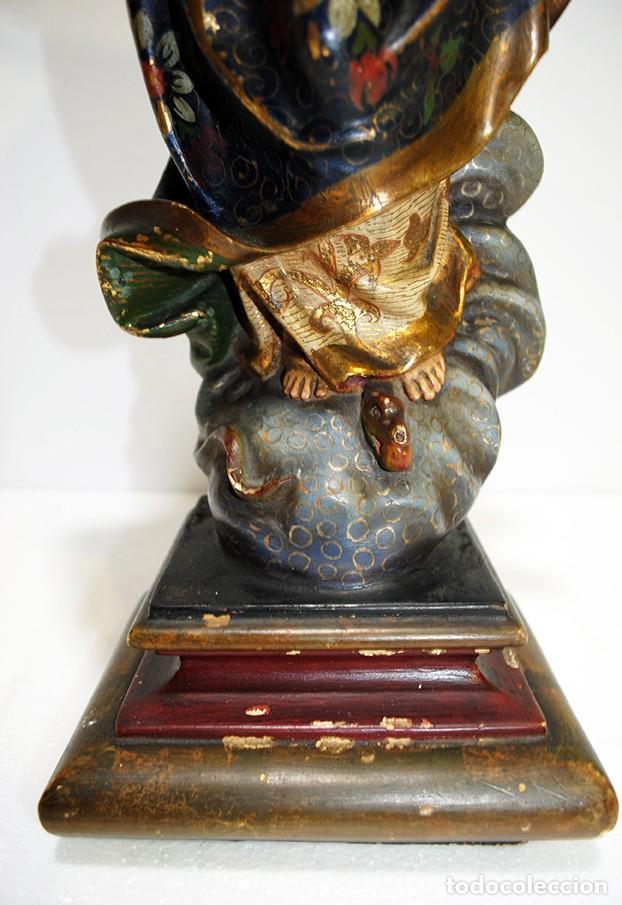 Arte: FIGURA RELIGIOSA IMAGEN OLOT VIRGEN INMACULADA CONCEPCIÓN - Foto 7 - 189766760