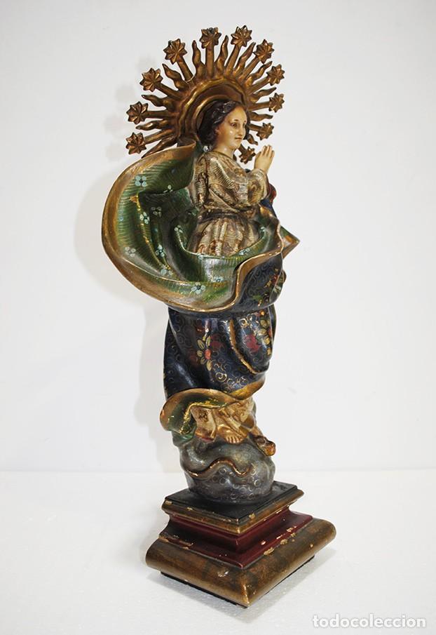Arte: FIGURA RELIGIOSA IMAGEN OLOT VIRGEN INMACULADA CONCEPCIÓN - Foto 10 - 189766760