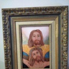 Arte: JESÚS CRISTO 40*50 - ORO DE LEY LIQUIDO - ESMALTE AL FUEGO - SOR PAULA MARTIN . Lote 189793911