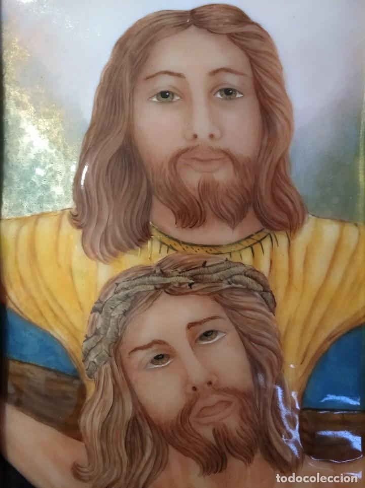 Arte: JESÚS CRISTO 40*50 - ORO DE LEY LIQUIDO - ESMALTE AL FUEGO - SOR PAULA MARTIN - Foto 3 - 189793911