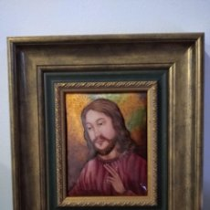 Arte: ROSTRO DE CRISTO 35*39 - ORO DE LEY LIQUIDO - ESMALTE AL FUEGO - SOR PAULA MARTIN . Lote 189793966