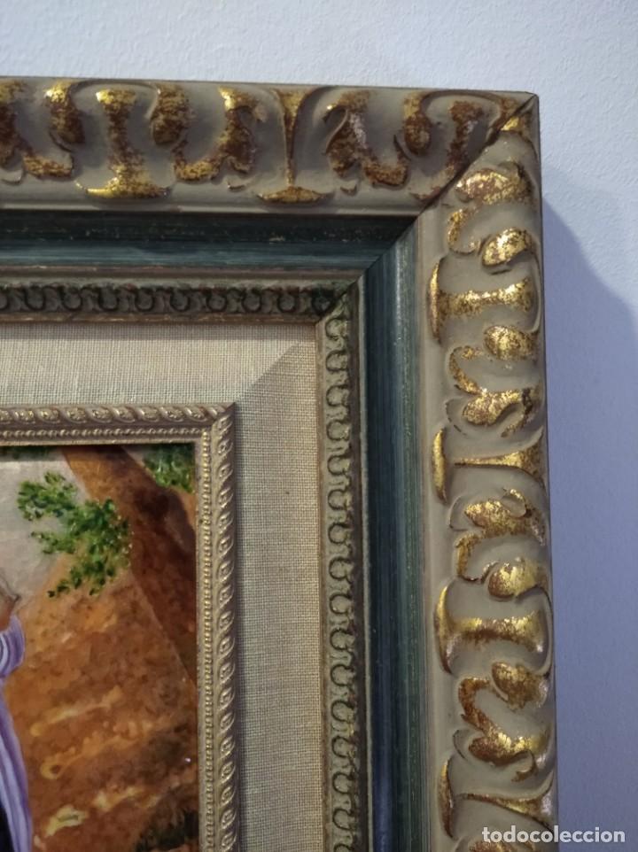 Arte: HUIDA A EGIPTO 43*52 - ORO DE LEY LIQUIDO - ESMALTE AL FUEGO - SOR PAULA MARTIN - Foto 6 - 189794021