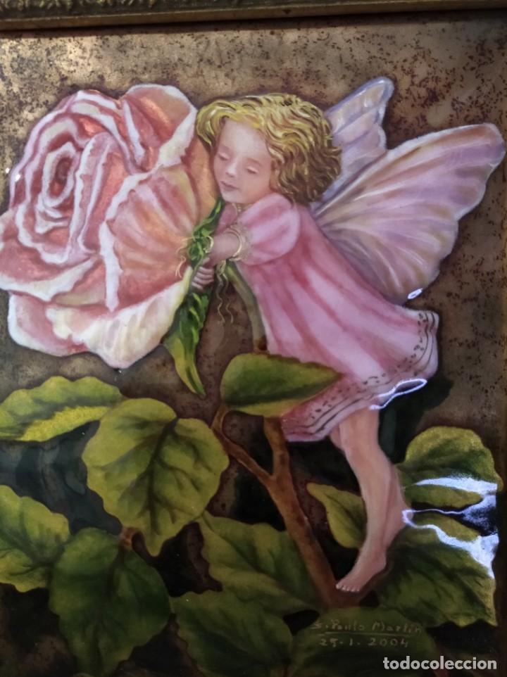 ADA SOBRE FLOR 43*46 - ORO DE LEY LIQUIDO - ESMALTE AL FUEGO - SOR PAULA MARTIN (Arte - Arte Religioso - Pintura Religiosa - Otros)