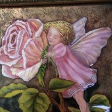 Arte: ADA SOBRE FLOR 43*46 - ORO DE LEY LIQUIDO - ESMALTE AL FUEGO - SOR PAULA MARTIN . Lote 189794086
