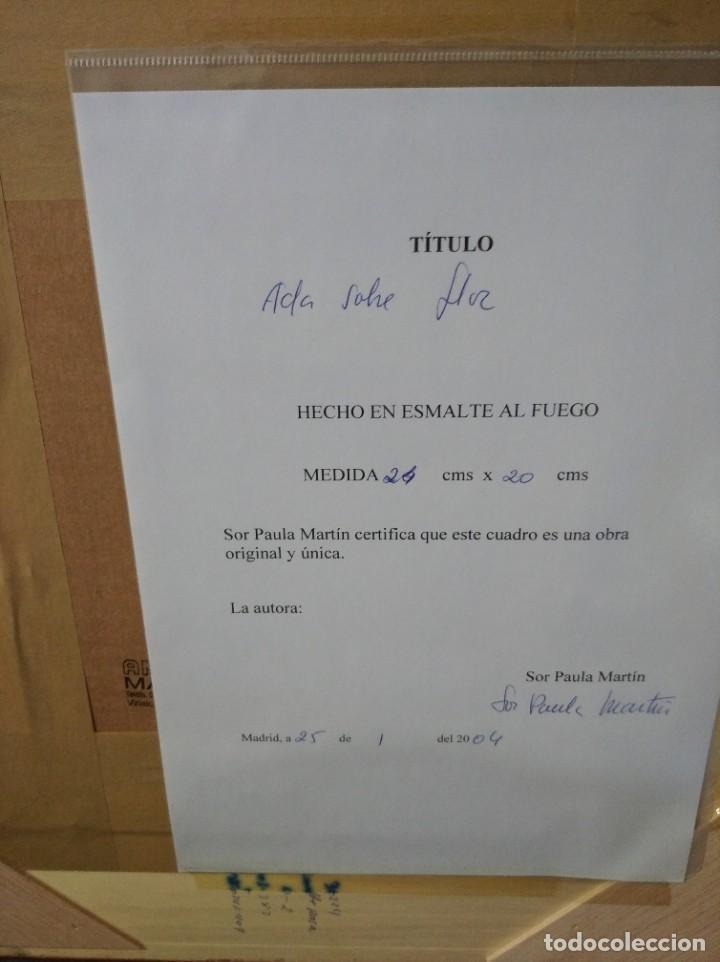 Arte: ADA SOBRE FLOR 43*46 - ORO DE LEY LIQUIDO - ESMALTE AL FUEGO - SOR PAULA MARTIN - Foto 5 - 189794086