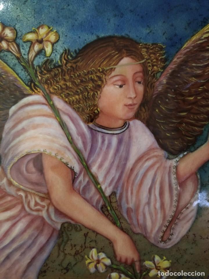 Arte: ÁNGEL 42*42 - ORO DE LEY LIQUIDO - ESMALTE AL FUEGO - SOR PAULA MARTIN - Foto 2 - 189794167
