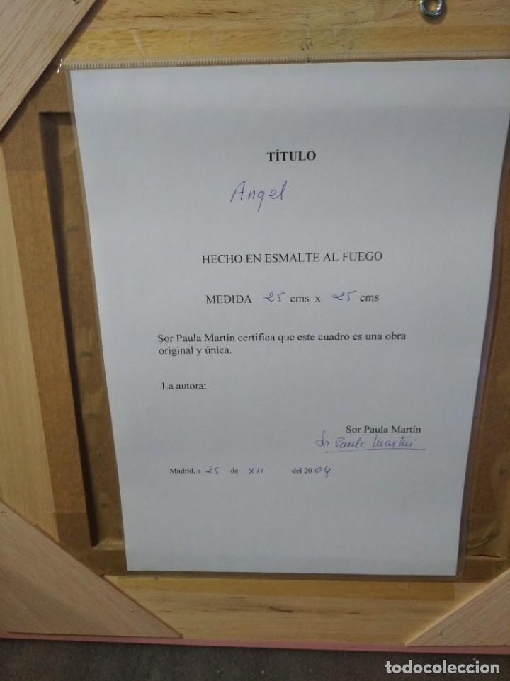 Arte: ÁNGEL 42*42 - ORO DE LEY LIQUIDO - ESMALTE AL FUEGO - SOR PAULA MARTIN - Foto 3 - 189794167