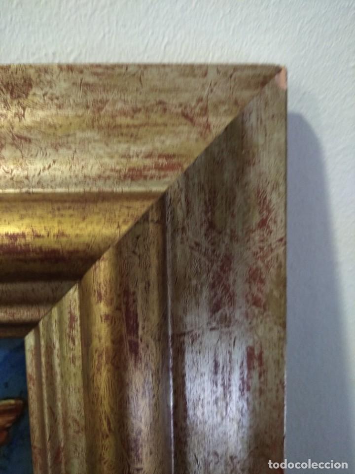 Arte: ÁNGEL 42*42 - ORO DE LEY LIQUIDO - ESMALTE AL FUEGO - SOR PAULA MARTIN - Foto 4 - 189794167