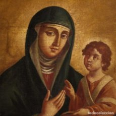 Arte: PINTURA ITALIANA ANTIGUA VIRGEN CON NIÑO DEL SIGLO XVIII. Lote 189830778