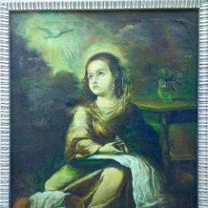 Arte: COPIA DE AUTOR ANÓNIMO ÓLEO SOBRE LIENZO CUADRO DE MURILLO.MARÍA NIÑA.ESCUELA SEVILLANA SIGLO XVIII. Lote 189839025