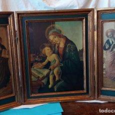 Arte: TRIPTICO CON ESCENAS RELIGIOSAS DE ESTILO RENACIMIENTO ITALIANO. Lote 189882637