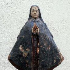 Arte: VIRGEN DE MADERA POSIBLEMENTE DEL SIGLO 16 O 17. Lote 189938417