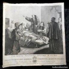 Arte: GRABADO PIO SEXTO - 1795 - MOCHETTI - ROMA - ORIGINAL. Lote 190013652