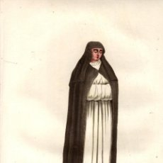 Art: GRABADO RELIGIOSA ANTIGUA DE LA ORDEN DE SANTA BRIGIDA (EN IRLANDA). HABITOS RELIGIOSOS, S. XIX. Lote 190136802
