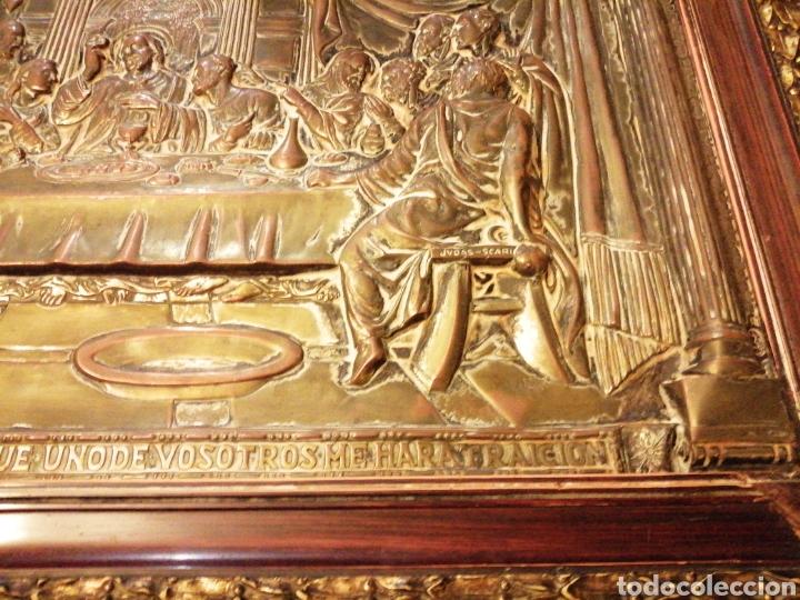 Arte: Placa cuadro de la última cena en cobre enmarcado - Foto 4 - 190163075
