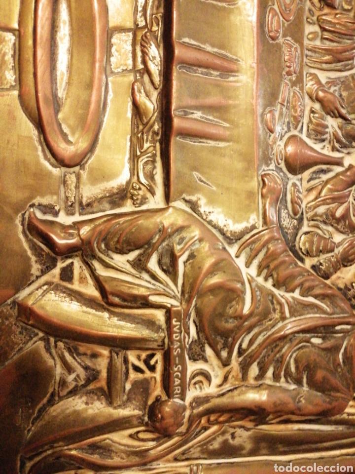 Arte: Placa cuadro de la última cena en cobre enmarcado - Foto 7 - 190163075