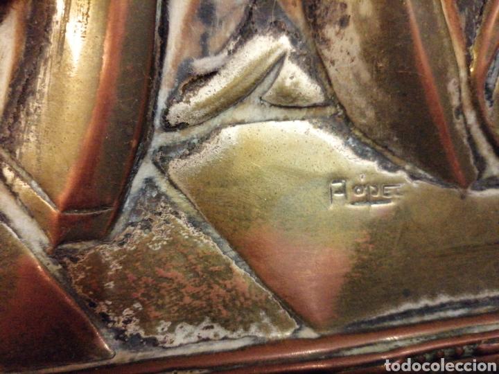Arte: Placa cuadro de la última cena en cobre enmarcado - Foto 10 - 190163075