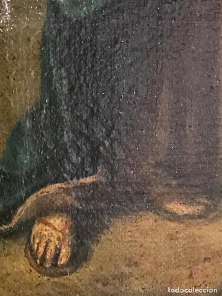 Arte: ESCUELA ESPAÑOLA SIGLO XVII. CALVARIO. LIENZO 40X29. MARCO EXCEPCIONAL. - Foto 6 - 94703711