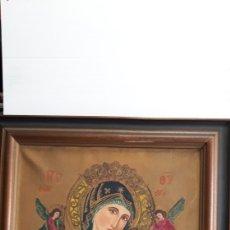 Arte: ANTIGUO CUADRO OLEO SOBRE TELA DE NUESTRA SEÑORA DEL PERPETUO SOCORRO 69 X 60 CM. Lote 190208621