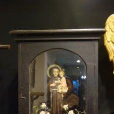Arte: IMAGEN RELIGIOSA CON URNA DE SAN ANTONIO . Lote 190378527