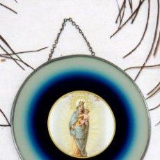 Arte: RELICARIO VIRGEN CARMEN, ICONO RELIGIOSO ANTIGUO, RELICARIO VIRGEN MARÍA, RELICARIO FRANCÉS. Lote 190463985