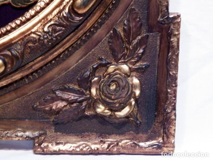 Arte: Antiguo Bordado XVIII, Bordado Enmarcado, Corazón de Jesús, Bordado Religioso, Bordado con Hilo Oro - Foto 4 - 190511297