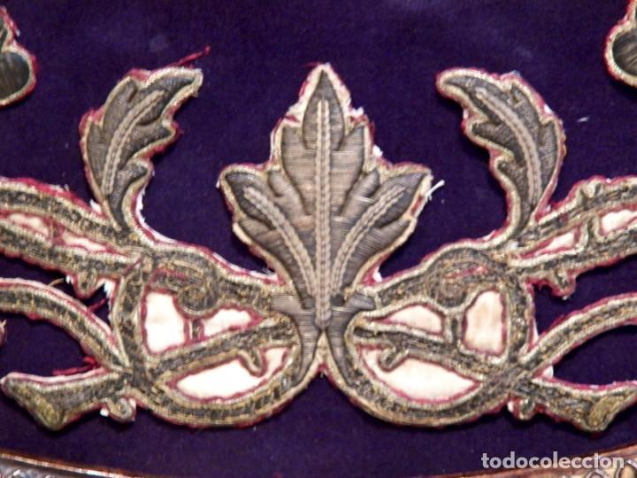 Arte: Antiguo Bordado XVIII, Bordado Enmarcado, Corazón de Jesús, Bordado Religioso, Bordado con Hilo Oro - Foto 5 - 190511297