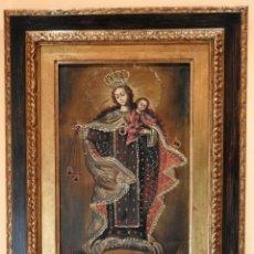 Arte: NTRA. SRA. VIRGEN DEL CARMEN - PINTURA CUZQUEÑA MITAD DEL SIGLO XX. Lote 190593548