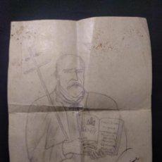 Arte: DIBUJO DE SAN JOSÉ DE CALASANZ, FUNDADOR DE LAS ESCUELAS PÍAS. H. 1940.. Lote 190708331