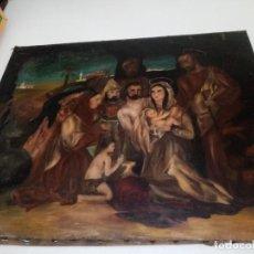 Arte: CUADRO ANTIGUO PINTADO AL OLEO. Lote 190729285