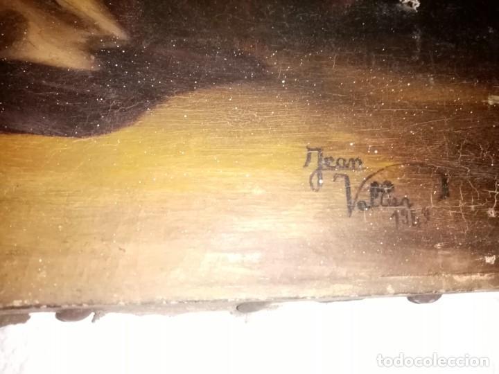 Arte: cuadro antiguo pintado al oleo - Foto 2 - 190729285