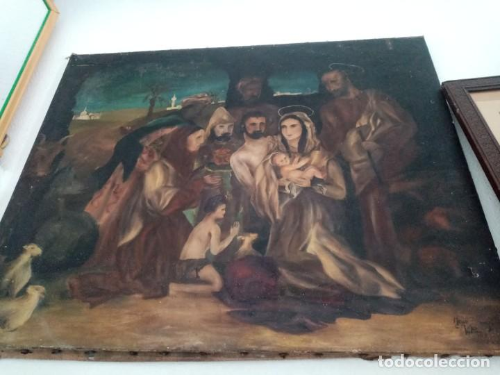 Arte: cuadro antiguo pintado al oleo - Foto 3 - 190729285