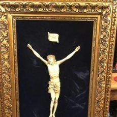 Arte: IMPRESIONANTE CRISTO MARFILINA 45 CMSX 29. Lote 190730160