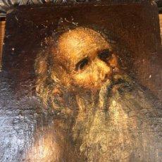 Arte: APOSTOL BARBADO, OLEO SOBRE TABLA. Lote 190730907