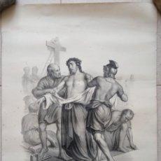 Arte: GRABADO LITOGRAFICO. VIA CRUCIS. JESUS DESPOJADO DE SUS VESTIDURAS. SIGLO XIX. PARIS L TURGIS. W. Lote 190733551