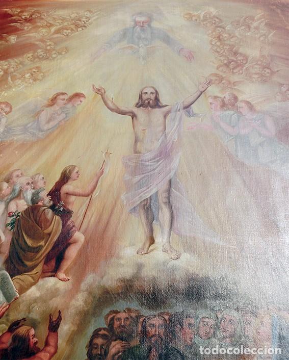 Arte: IMPORTANTE OBRA RELIGIOSA - EMILIA CARMENA DE PROTA - AÑO 1858 - ÓLEO SOBRE LIENZO - ASCENSIÓN S.XIX - Foto 16 - 190824018