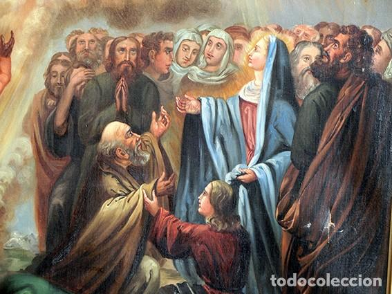 Arte: IMPORTANTE OBRA RELIGIOSA - EMILIA CARMENA DE PROTA - AÑO 1858 - ÓLEO SOBRE LIENZO - ASCENSIÓN S.XIX - Foto 3 - 190824018