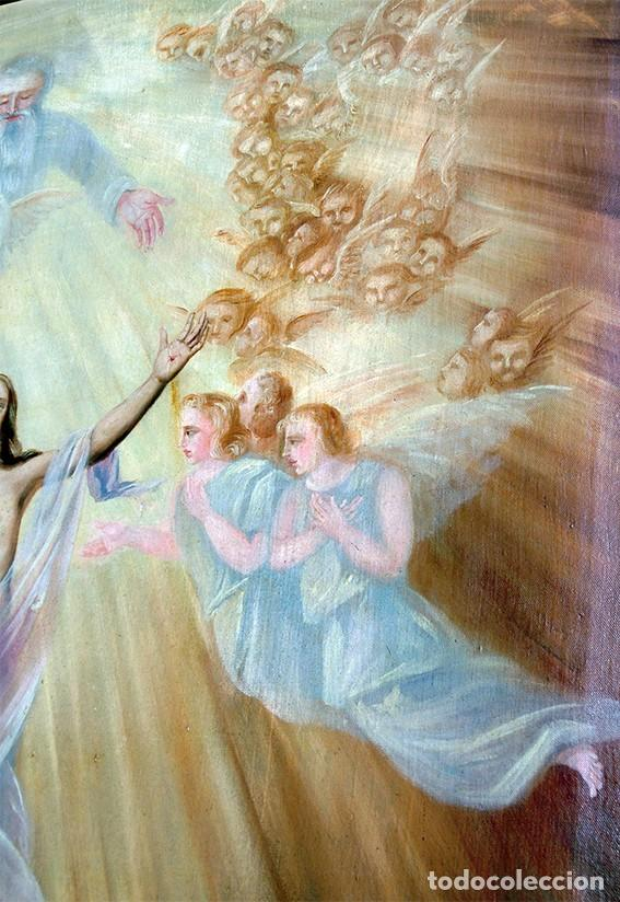 Arte: IMPORTANTE OBRA RELIGIOSA - EMILIA CARMENA DE PROTA - AÑO 1858 - ÓLEO SOBRE LIENZO - ASCENSIÓN S.XIX - Foto 5 - 190824018