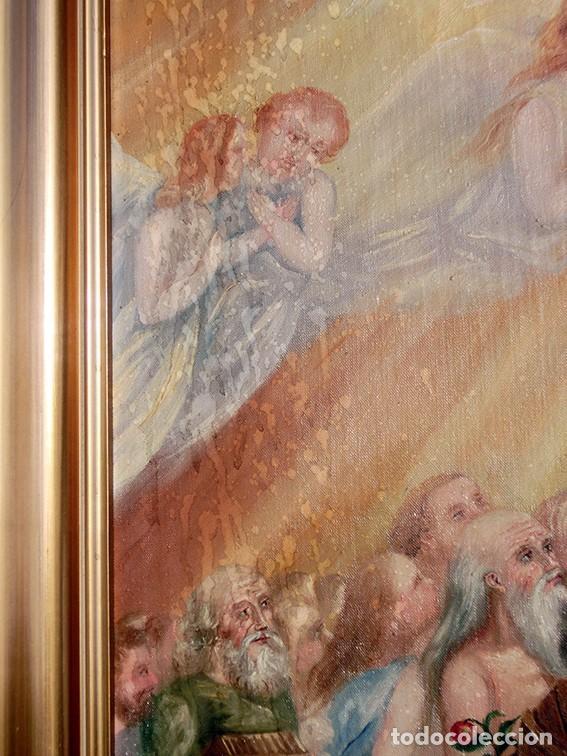 Arte: IMPORTANTE OBRA RELIGIOSA - EMILIA CARMENA DE PROTA - AÑO 1858 - ÓLEO SOBRE LIENZO - ASCENSIÓN S.XIX - Foto 8 - 190824018
