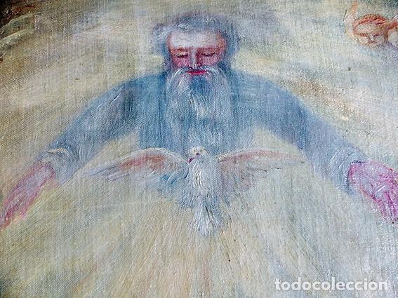 Arte: IMPORTANTE OBRA RELIGIOSA - EMILIA CARMENA DE PROTA - AÑO 1858 - ÓLEO SOBRE LIENZO - ASCENSIÓN S.XIX - Foto 7 - 190824018