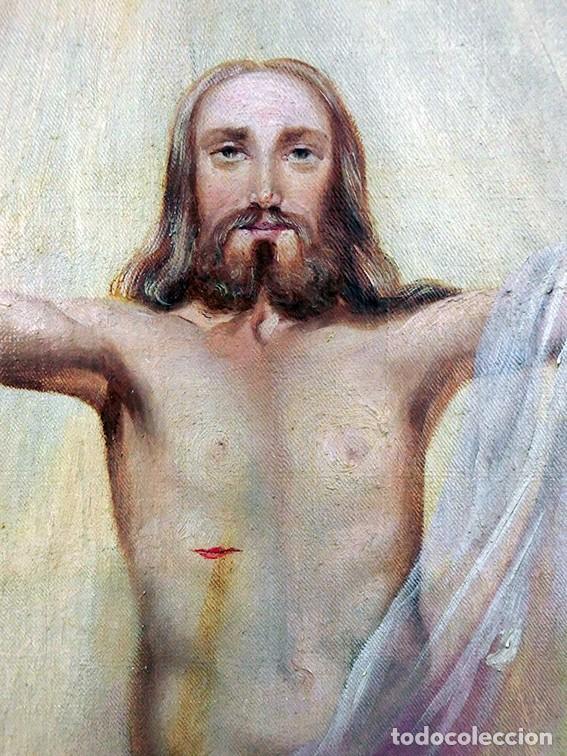 Arte: IMPORTANTE OBRA RELIGIOSA - EMILIA CARMENA DE PROTA - AÑO 1858 - ÓLEO SOBRE LIENZO - ASCENSIÓN S.XIX - Foto 9 - 190824018