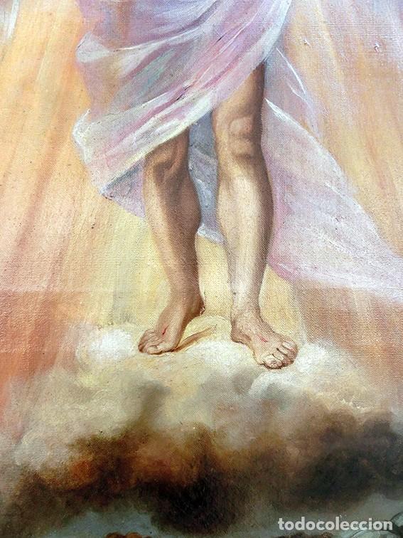 Arte: IMPORTANTE OBRA RELIGIOSA - EMILIA CARMENA DE PROTA - AÑO 1858 - ÓLEO SOBRE LIENZO - ASCENSIÓN S.XIX - Foto 11 - 190824018