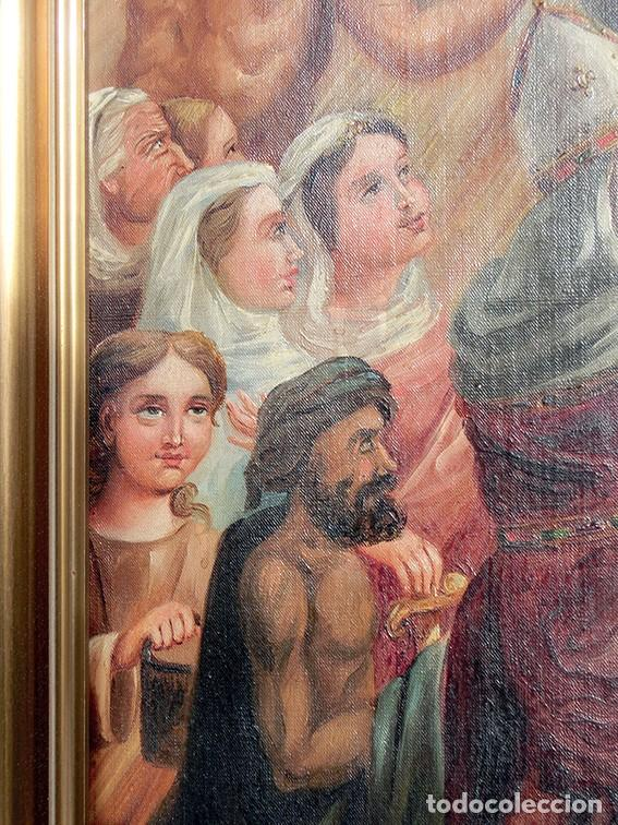 Arte: IMPORTANTE OBRA RELIGIOSA - EMILIA CARMENA DE PROTA - AÑO 1858 - ÓLEO SOBRE LIENZO - ASCENSIÓN S.XIX - Foto 12 - 190824018